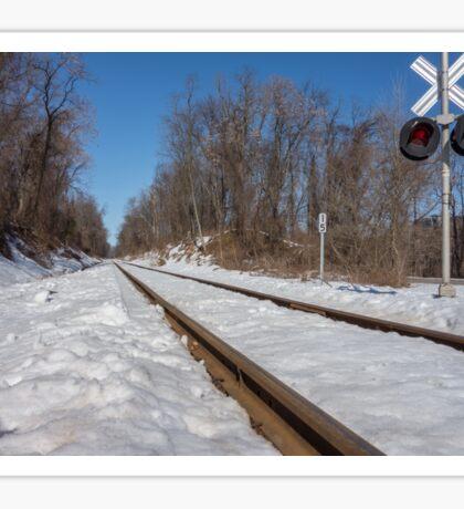 HDR Train Tracks Sticker