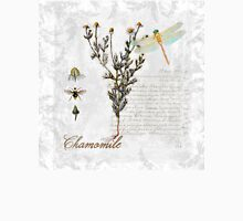 Chamomile herb Dragonfly Botanical illustration art T-Shirt
