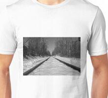 Black and White Train Tracks Unisex T-Shirt