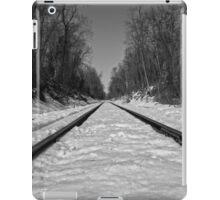 Black and White Train Tracks iPad Case/Skin