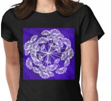 Floral Pattern, Queen Annes Lace, bright purple Womens Fitted T-Shirt