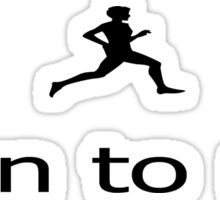 Fitness Running Born To Run - T-Shirt Sticker