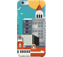 Long Beach - Skyline Illustration by Loose Petals iPhone Case/Skin