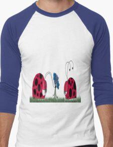 Flowers For My Love Men's Baseball ¾ T-Shirt