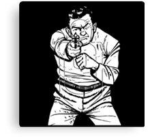 punk shooting range target Canvas Print