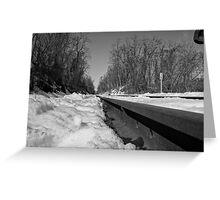 Train Tracks On a Snowy Day Greeting Card