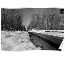 Train Tracks On a Snowy Day Poster