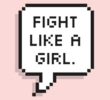 fight like a girl Kids Tee
