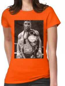 Mike Tyson Pencil Drawing Womens Fitted T-Shirt