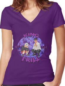 King of The Trill Women's Fitted V-Neck T-Shirt