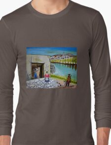 Paesaggio siciliano Long Sleeve T-Shirt