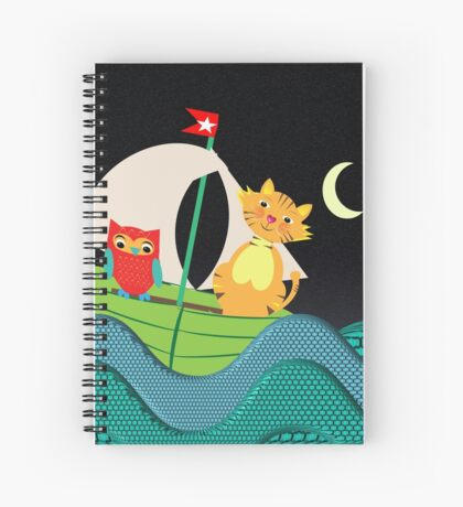 The Owl And The Pussy Cat When To Sea Spiral Notebook