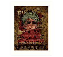 Trigun Vash the stampede Art Print