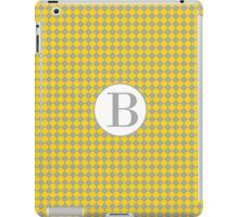 B Checkered iPad Case/Skin