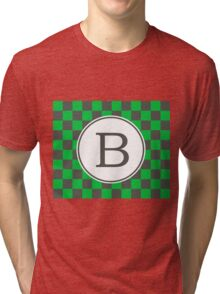 B Checkered II Tri-blend T-Shirt
