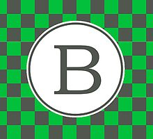 B Checkered II by MonogramMonkey