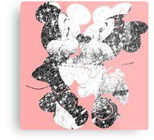 Minnie & Mickey Metal Print