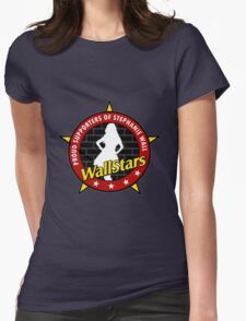 New RED WALLSTAR Womens Fitted T-Shirt