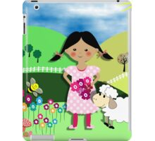 Mary Had A Little Lamb Cute Whimsy Illustration iPad Case/Skin
