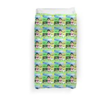 Mary Had A Little Lamb Cute Whimsy Illustration Duvet Cover