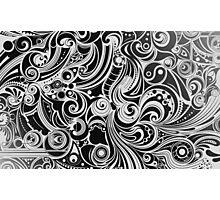 Black Doodling Photographic Print