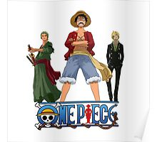 Luffi Zoro Sanji - One Piece Poster