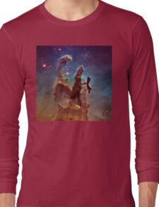 Pillars of Creation, Eagle nebula, space exploration Long Sleeve T-Shirt