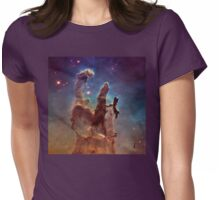 Pillars of Creation, Eagle nebula, space exploration Womens Fitted T-Shirt