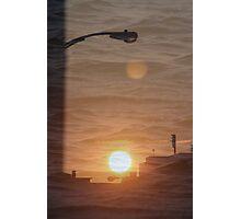 Buffalo Sunset double exposure Photographic Print