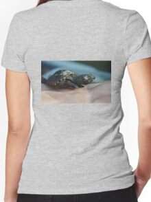 Baby Snapping Turtle #2 Women's Fitted V-Neck T-Shirt