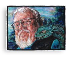 George R. R. Martin Father Of Dragons Canvas Print
