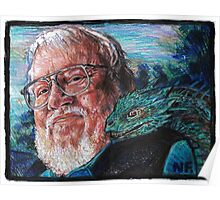 George R. R. Martin Father Of Dragons Poster