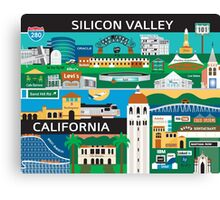 Silicone Valley - Collage Illustration by Loose Petals Canvas Print