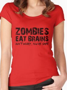 Zombies Eat Brains-Don't Women's Fitted Scoop T-Shirt