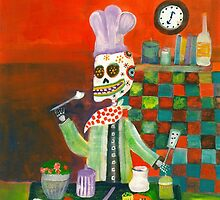 Chef - Day  of the Dead by dayofthedeadart