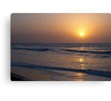 Sunset over Atlantic Ocean Canvas Print
