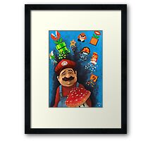 8 bit madness Framed Print