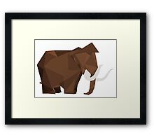 Geometric Mammoth Framed Print