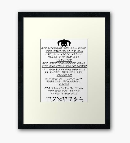Prophecy of the Dragonborn Framed Print