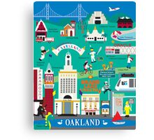 Oakland - Collage Illustration by Loose Petals Canvas Print