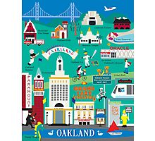 Oakland - Collage Illustration by Loose Petals Photographic Print