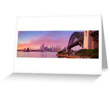 Sydney Harbour Bridge Dawn, New South Wales, Australia Greeting Card