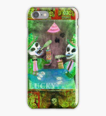 The Gamblers Poker Day of the Dead  Folk Art iPhone Case/Skin