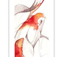 KOI FISH ART Sticker