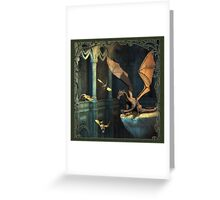 Fantasy Scene with Dragons Greeting Card