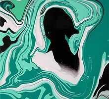 dream sequence (detail) : turquoise by Martin Rolt