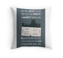 Blue - Downton Abbey  Throw Pillow