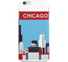 Chicago - Skyline Illustration by Loose Petals iPhone Case/Skin