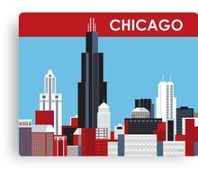 Chicago - Skyline Illustration by Loose Petals Canvas Print