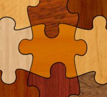 Puzzle Wood Sticker